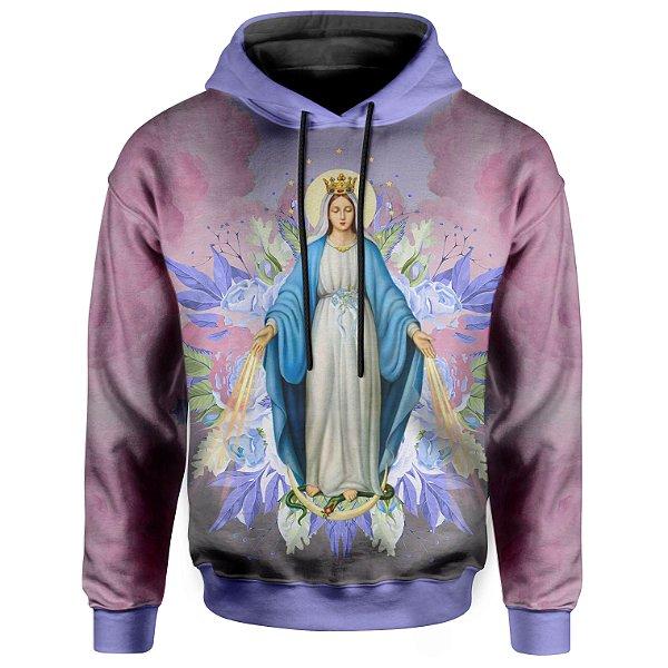 Moletom Com Capuz Unissex Santa Maria Floral