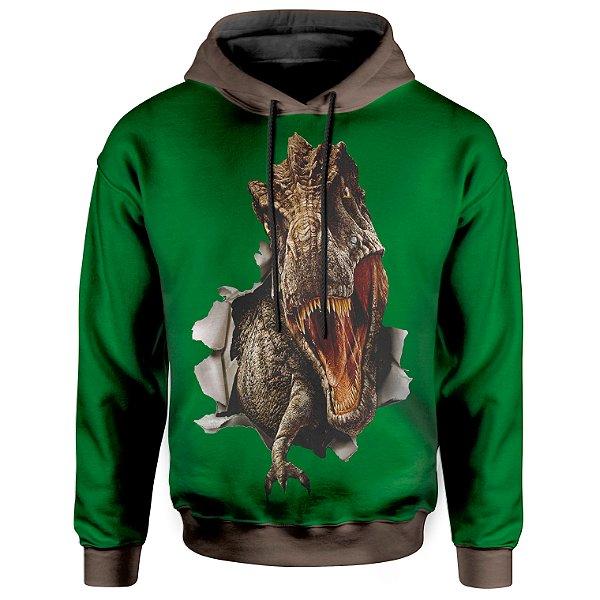 Moletom Com Capuz Unissex T-Rex