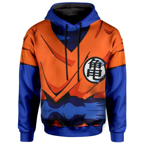 Moletom Unissex Com Capuz Dragon Ball Goku Armadura Md01
