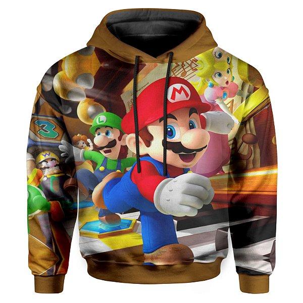 Moletom Infantil Com Capuz Unissex Mario Bross md01