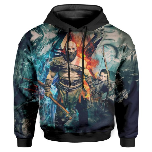 Moletom Infantil Com Capuz Unissex God of War Md05