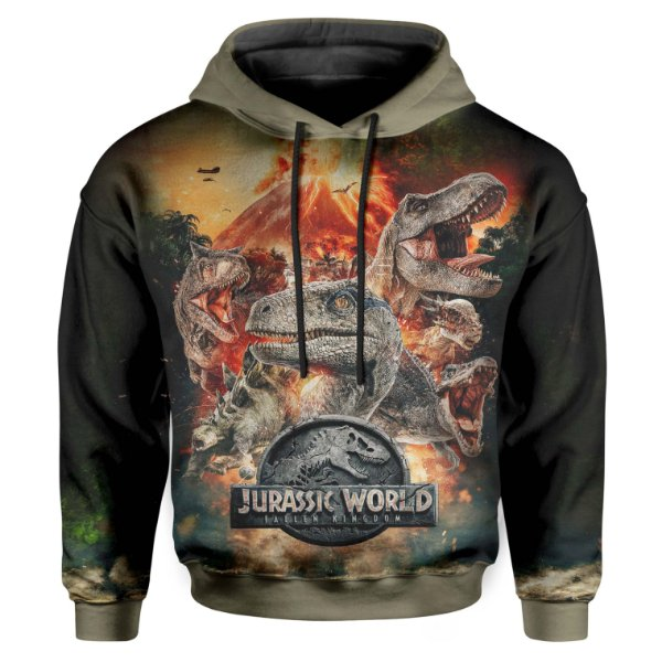 Moletom Infantil Com Capuz Jurassic World MD04