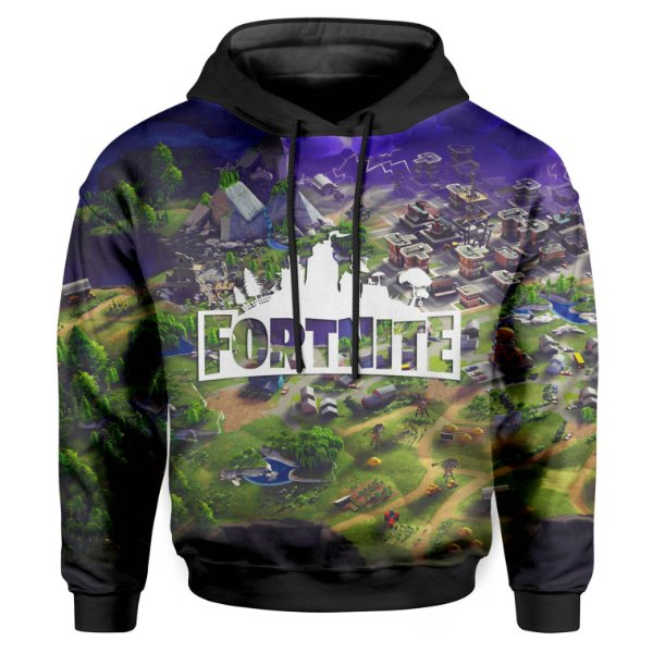 Moletom Infantil Com Capuz Unissex Fortnite Md02