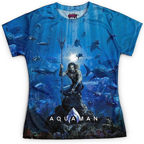 Camiseta Baby Look Feminina Aquaman MD02 - OUTLET