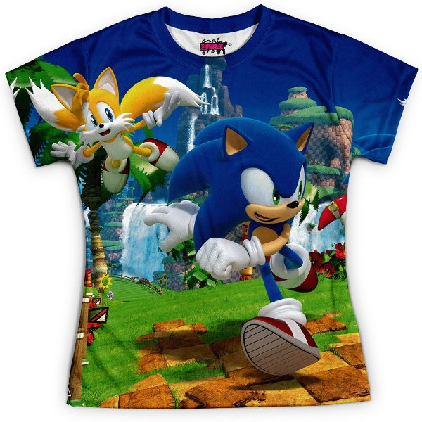 Baby look Feminina Sonic - OUTLET