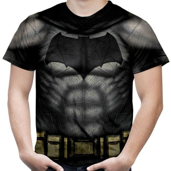 Camiseta Masculina Batman Armadura Estampa Total Md02 - OUTLET