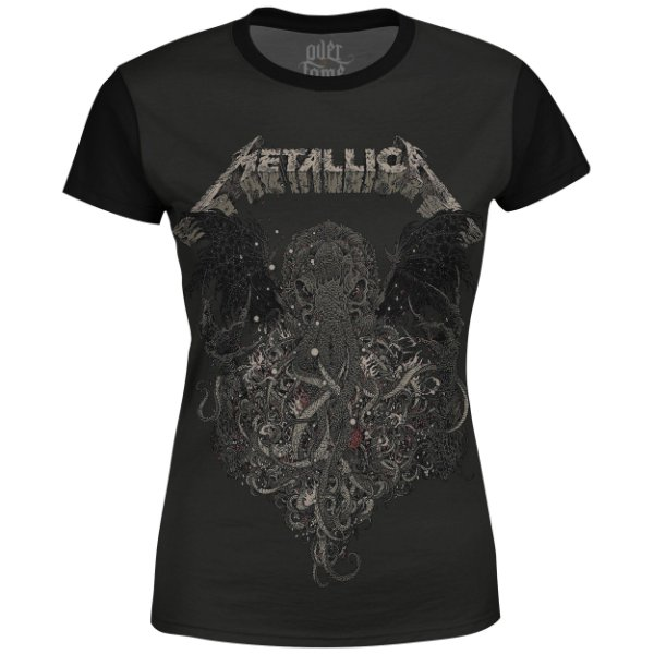 Camiseta Baby Look Feminina Metallica Estampa digital md02 - OUTLET