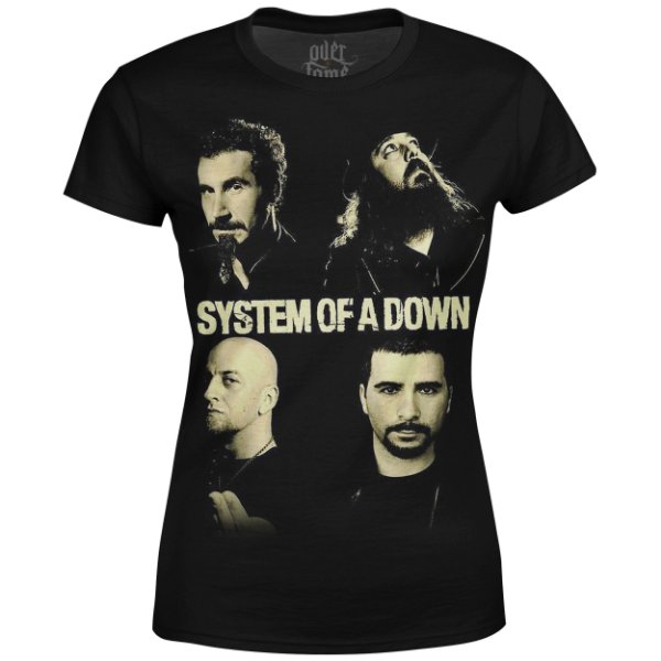 Camiseta Baby Look Feminina System of a Down md01 - OUTLET