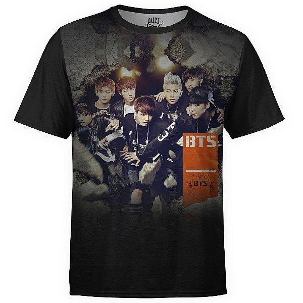 Camiseta masculina BTS Bangtan Boys Estampa Digital md04 - OUTLET