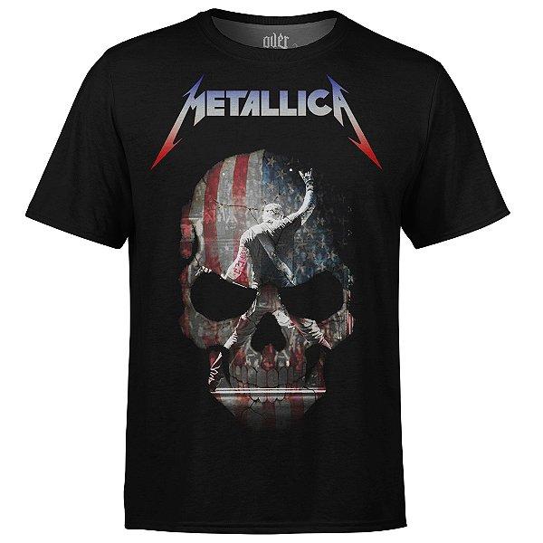 Camiseta masculina Metallica Estampa digital md05 - OUTLET
