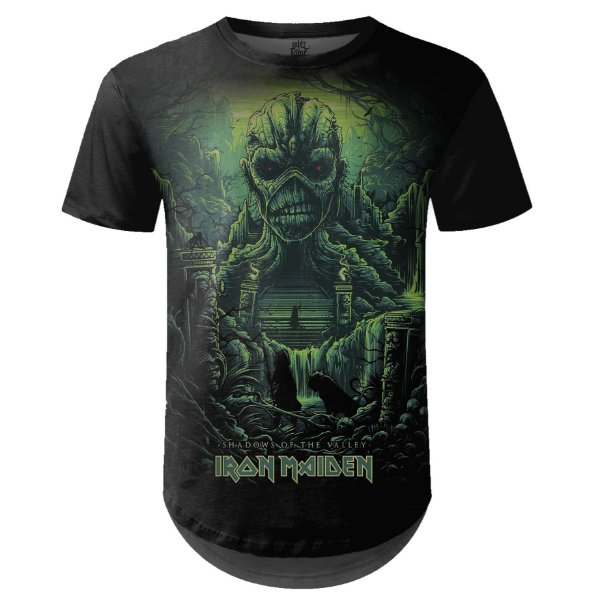 Camiseta Masculina Longline Iron Maiden Estampa digital md04 - OUTLET