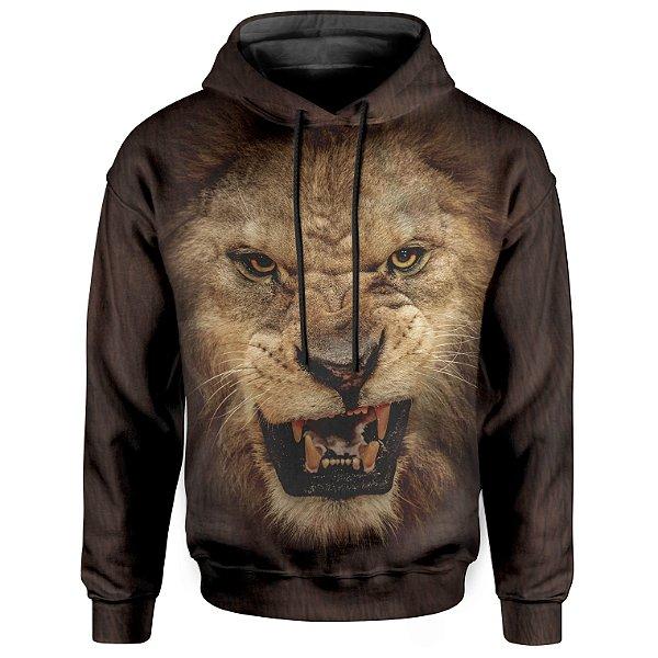Moletom Com Capuz Unissex Big Face Leão md01