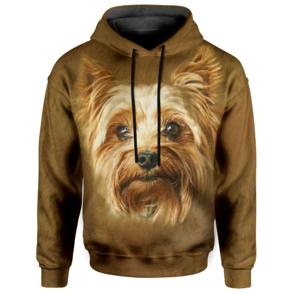 Moletom Com Capuz Unissex Yorkshire Terrier md01