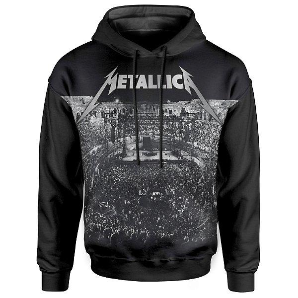 Moletom Com Capuz Unissex Metallica md04