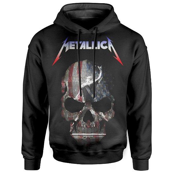 Moletom Com Capuz Unissex Metallica md05