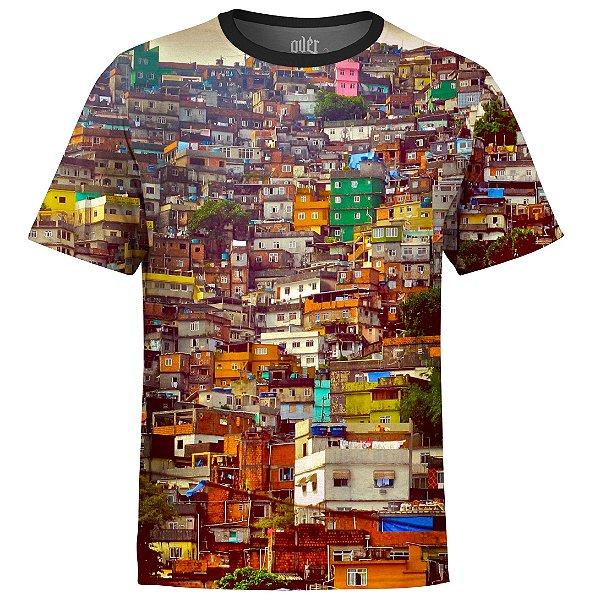 Camiseta Masculina Favela Estampa Digital md01 - OUTLET