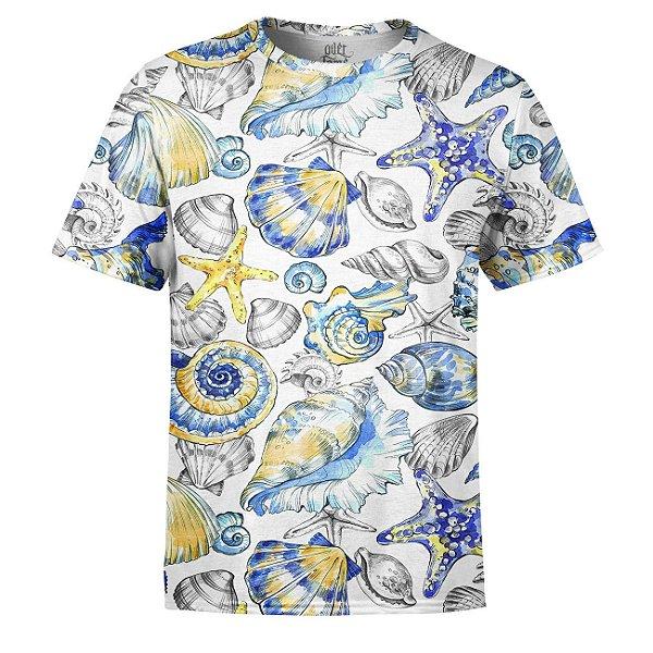 Camiseta Masculina Fundo do Mar Vintage Estampa Digital - OUTLET
