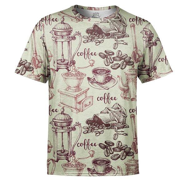Camiseta Masculina Café Estampa Digital - OUTLET