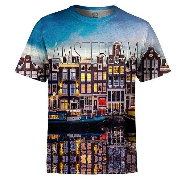 Camiseta Masculina Amsterdam Estampa Digital - OUTLET