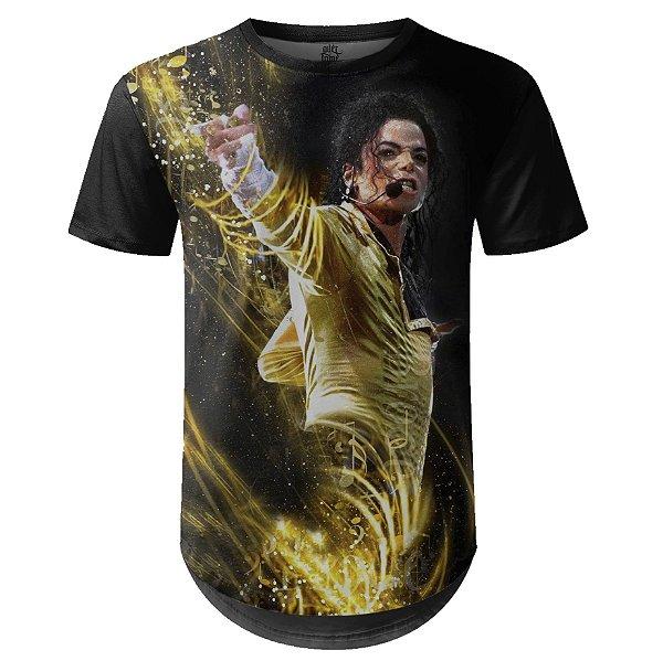 Camiseta Masculina Longline Michael Jackson md03 - OUTLET