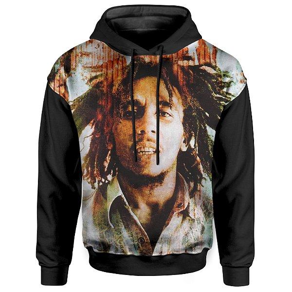 Moletom Com Capuz Unissex Bob Marley Reggae md02