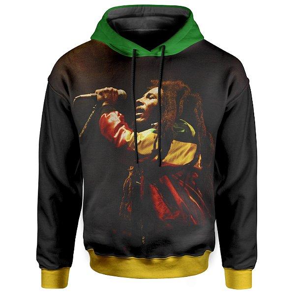 Moletom Com Capuz Unissex Bob Marley Reggae md01