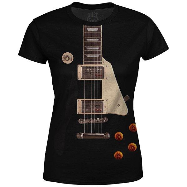 Camiseta Baby Look Feminina Guitarra Les Paul md01 - OUTLET