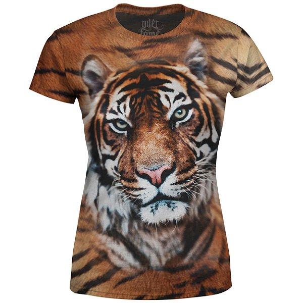 Camiseta Baby Look Feminina Tigre md01 - OUTLET