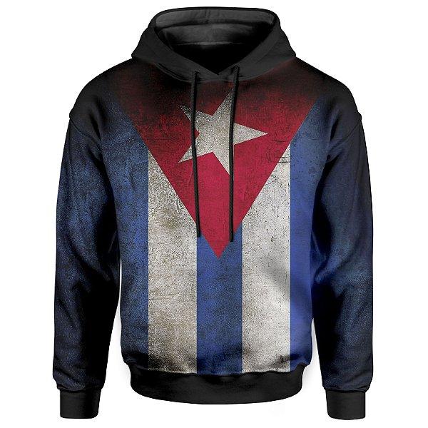 Moletom Com Capuz Unissex Bandeira Cuba Md01