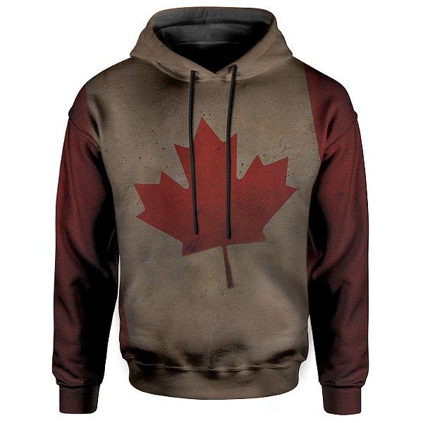 Moletom Com Capuz Unissex Bandeira Canada Md01
