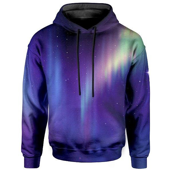 Moletom Com Capuz Unissex Aurora Boreal Md01