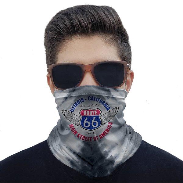 Máscara Bandana Route 66 Proteção Ciclismo Moto Paintball