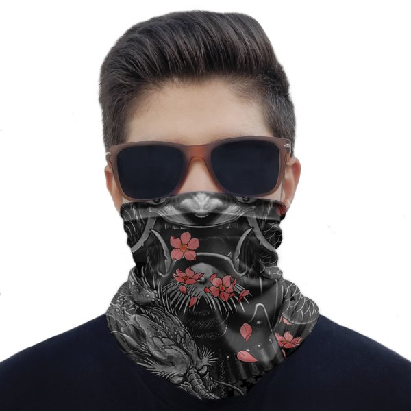 Máscara Bandana Samurai Bushido Proteção Ciclismo Pesca