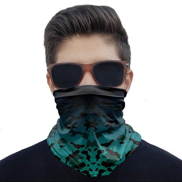 Máscara Bandana Camuflada Marítima Proteção Ciclismo Moto