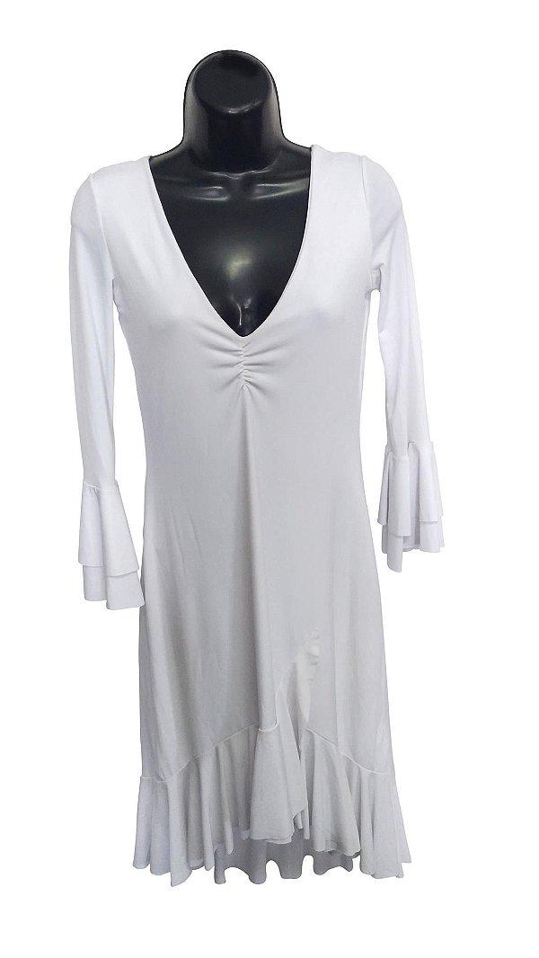Vestido Branco Básico (Peça única Tam. P)
