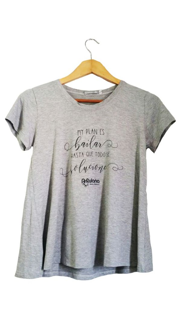 Camiseta Mi Plan Cinza