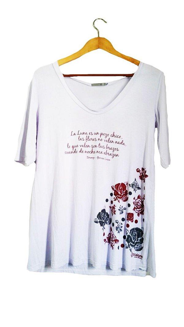 Camiseta Zorongo Manga 3/4 Branca