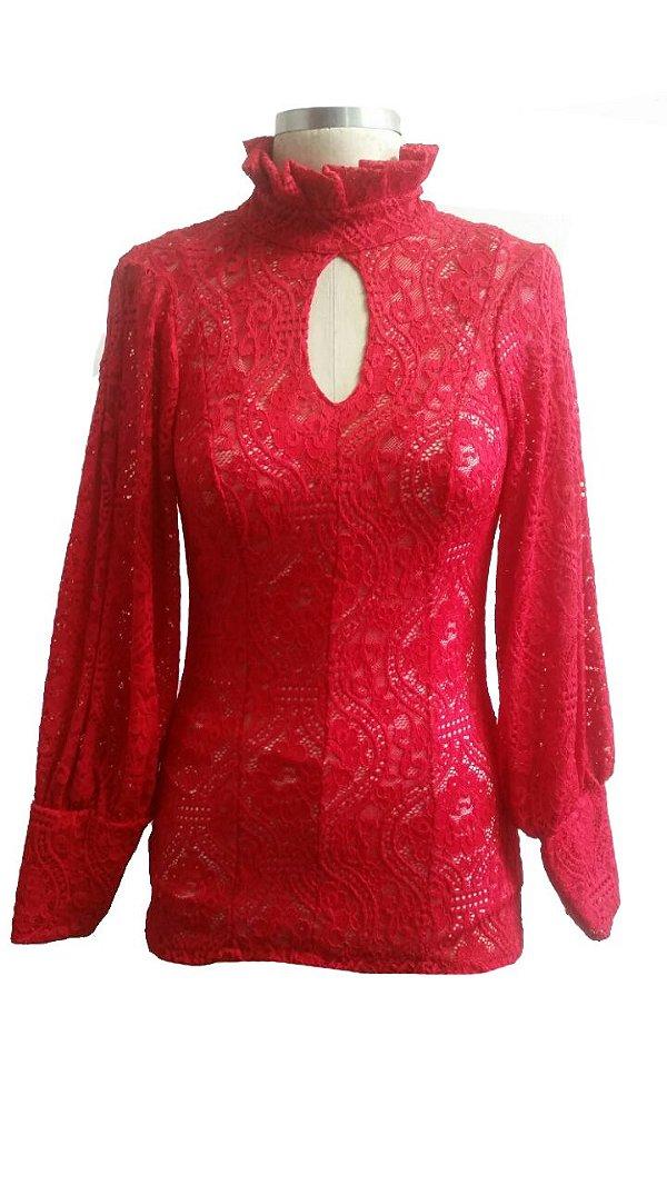 Camisa Renda Fandangos Vermelha