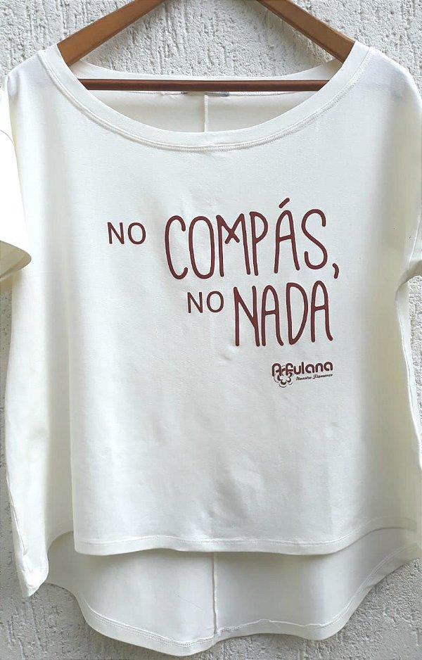 CAMISETA NO COMPAS FEMININO