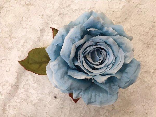 Rosa Grande Azul Sem Arame