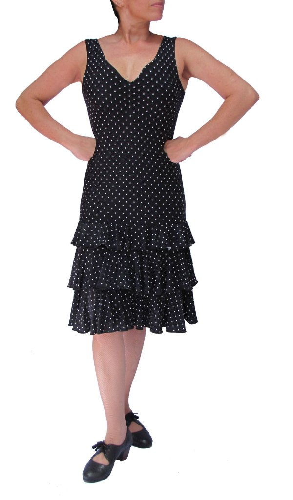 Mini Vestido Sevillanas Bolinhas