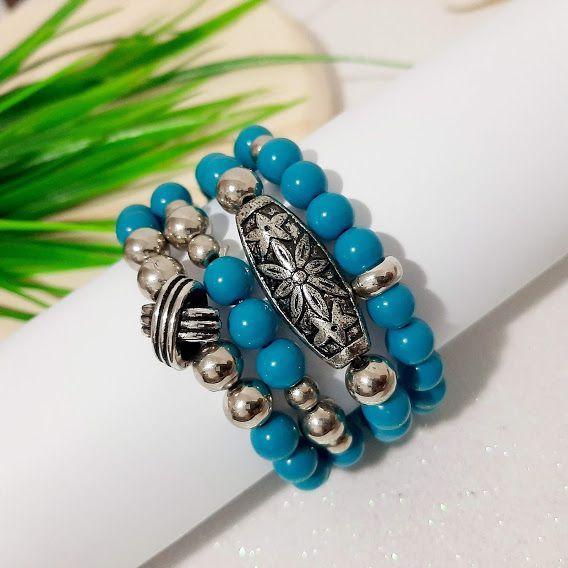 Kit de pulseiras azul