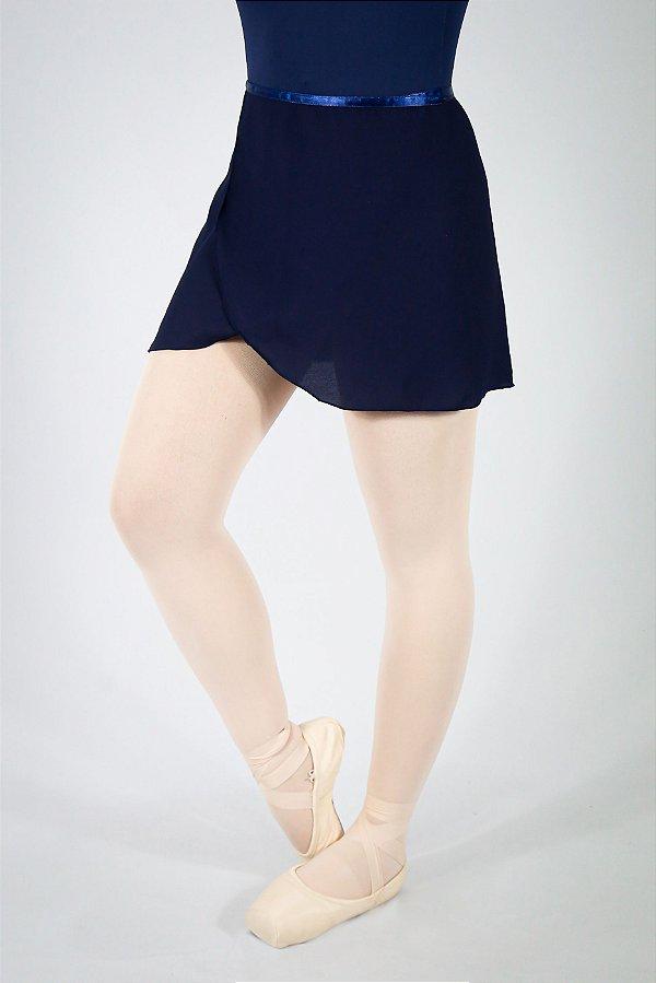 Saia Transpassada - Azul Marinho