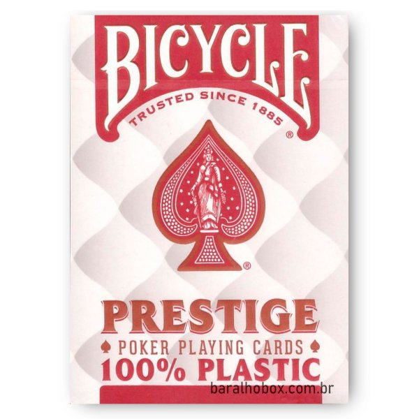 Baralho Bicycle Prestige Jumbo 100% Plástico Vermelho