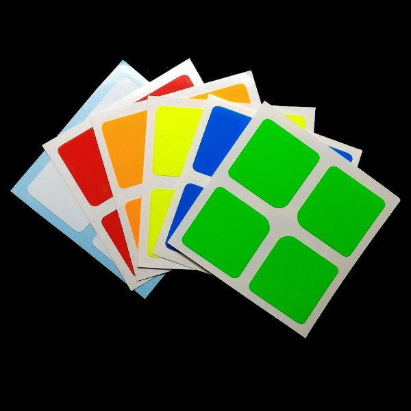 Adesivo 2x2x2 Shengshou - Fluorescente