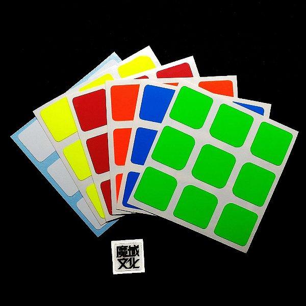 Adesivo 3x3x3 Moyu - Fluorescente