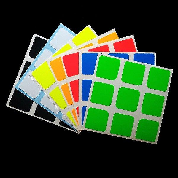 Adesivo 3x3x3 Z-Stickers 56 e 57mm -Fluorescente