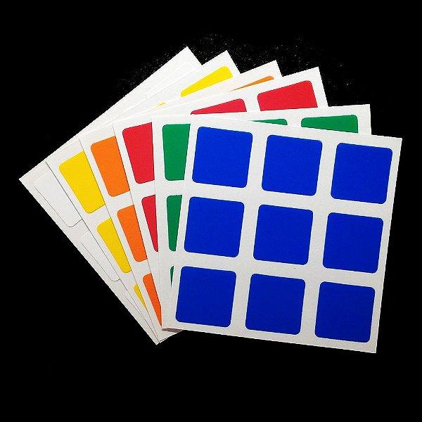 Adesivo 3x3x3 Dayan - Shengshou - Rubik's