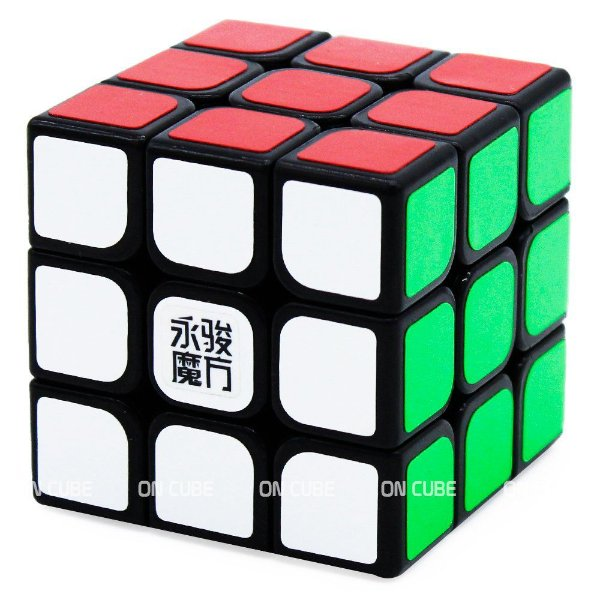 Cubo Mágico 3x3x3 YJ Sulong Preto