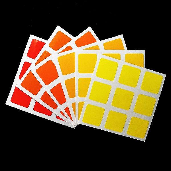 Adesivo 3x3x3 Yellow & Orange